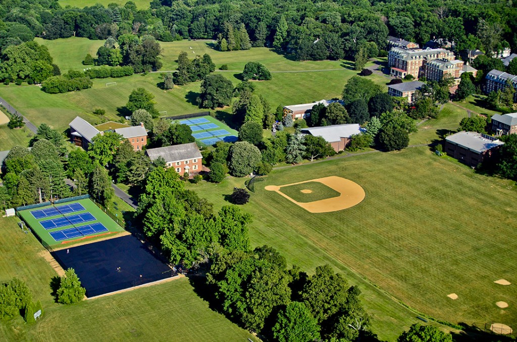 Aerial Views of the George School Campus, Newtown, PA. Photo by Bob Krist